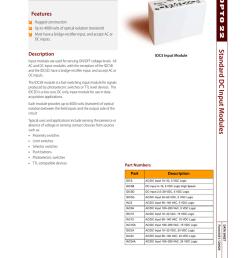 standard dc input modules features [ 791 x 1024 Pixel ]