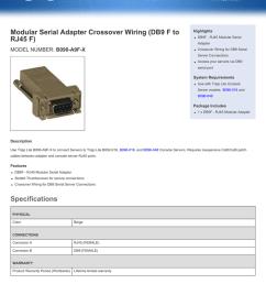 modular serial adapter crossover wiring db9 f to rj45 f b090 a9f x [ 791 x 1024 Pixel ]