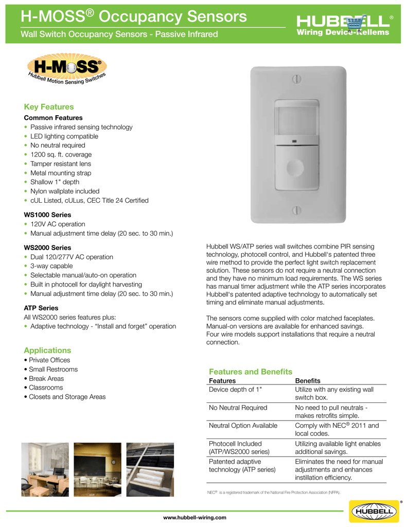 hight resolution of h moss occupancy sensors wall switch occupancy sensors passive infrared