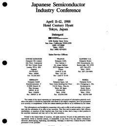 japanese semiconductor industry conference april 11 12 1988 hotel century hyatt [ 784 x 1024 Pixel ]