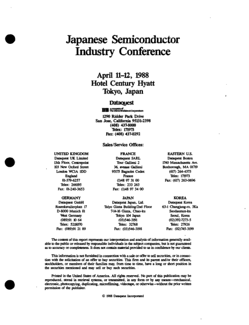 small resolution of japanese semiconductor industry conference april 11 12 1988 hotel century hyatt