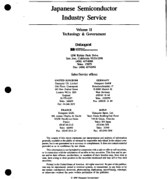 japanese semiconductor industry service volume ii technology amp government [ 796 x 1024 Pixel ]