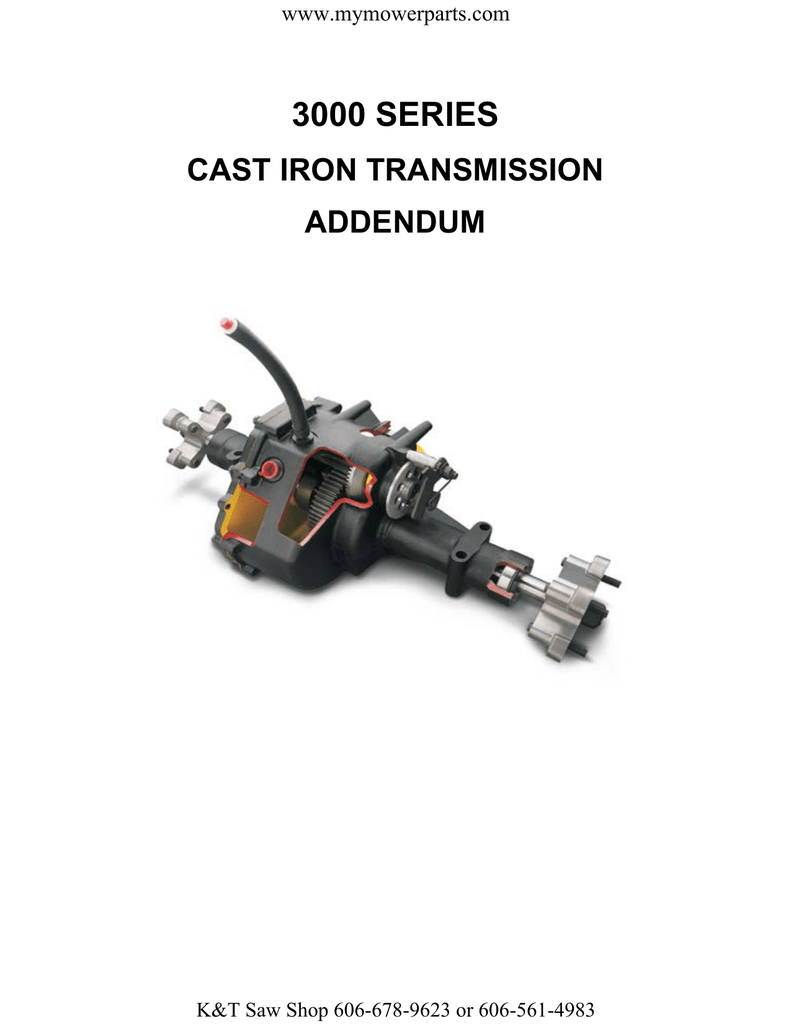 3000 SERIES CAST IRON TRANSMISSION ADDENDUM www