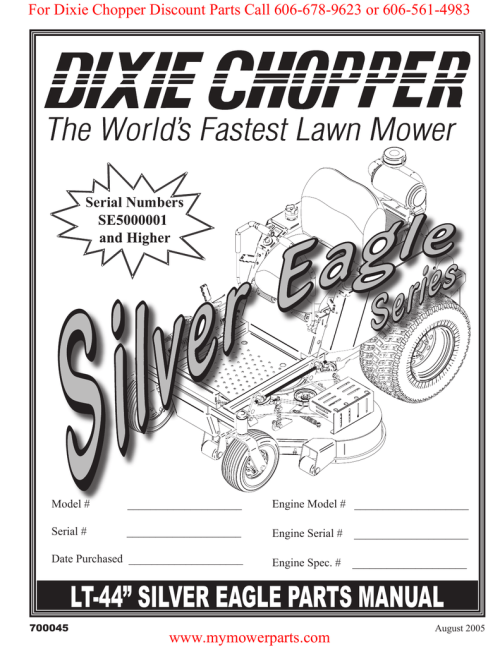 small resolution of for dixie chopper discount parts call 606 678 9623 or 606 561 4983 serial numbers se5000001
