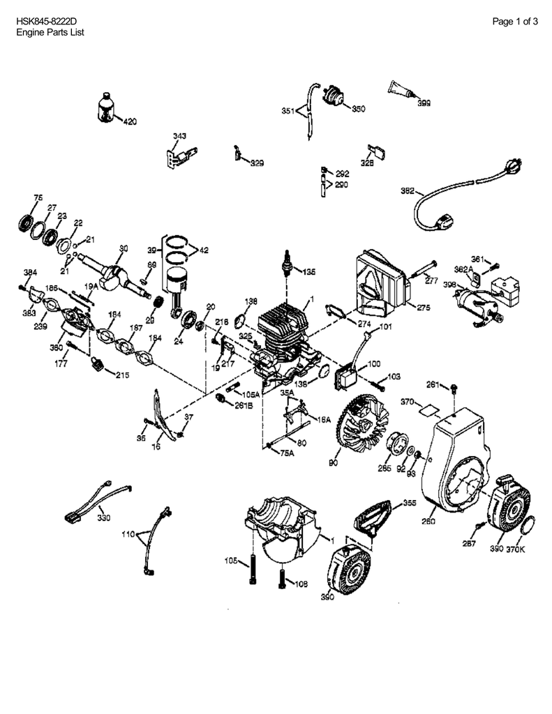 Tecumseh Engine Parts Diagram Download : tecumseh, engine, parts, diagram, download, HSK845-8222D, Engine, Parts, Manualzz
