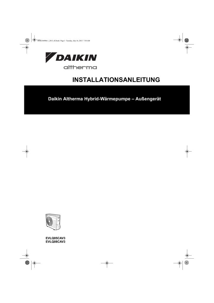 INSTALLATIONSANLEITUNG Daikin Altherma Hybrid-Wärmepumpe