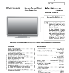 schematic diagram dp42849 sanyo tv [ 791 x 1024 Pixel ]