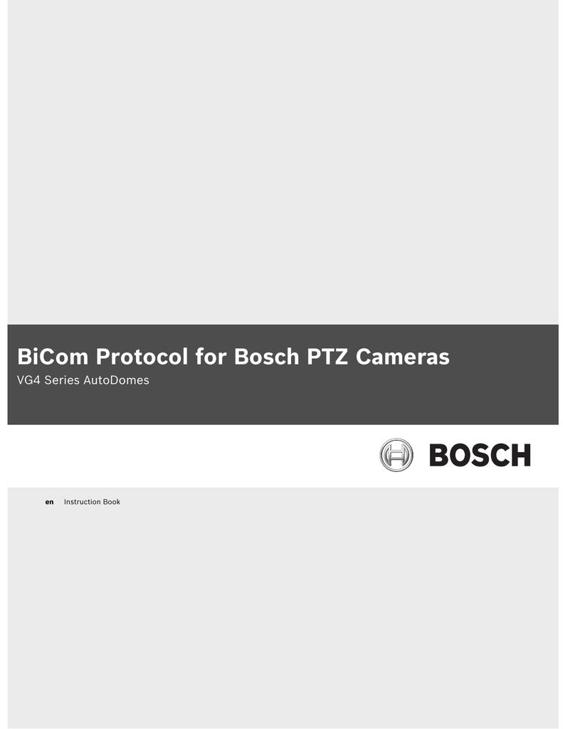hight resolution of bicom protocol for bosch ptz cameras manualzz com autodome ptz camera wiring diagram