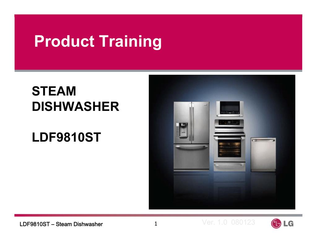 hight resolution of lg dishwasher ldf9810st