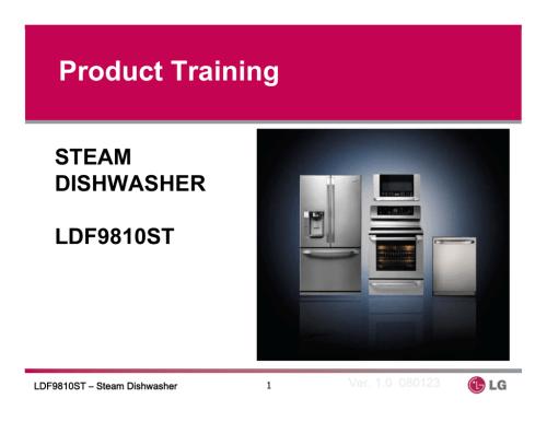small resolution of lg dishwasher ldf9810st