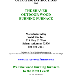 shaver installation manual shaver outdoor wood furnace and boilershaver installation manual shaver outdoor wood furnace and [ 791 x 1024 Pixel ]
