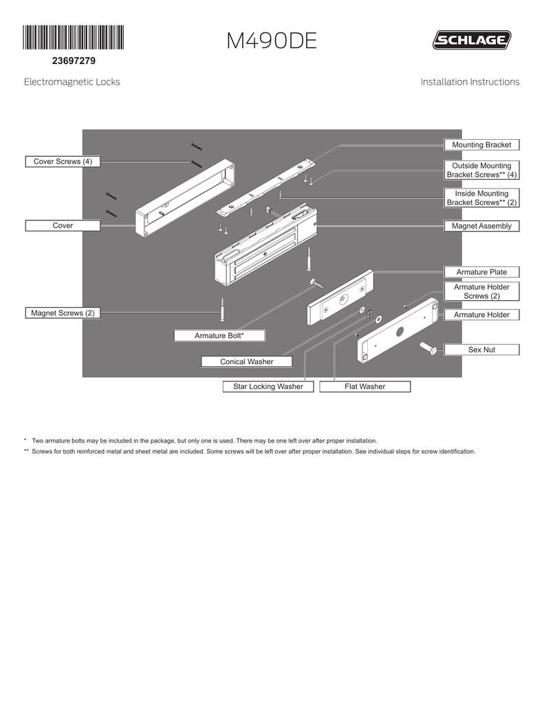 medium resolution of schlage m490de installation instructions