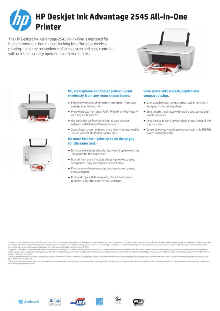 Hp 1515 Driver : driver, Deskjet, Advantage, All-in-One, Printer, Manualzz