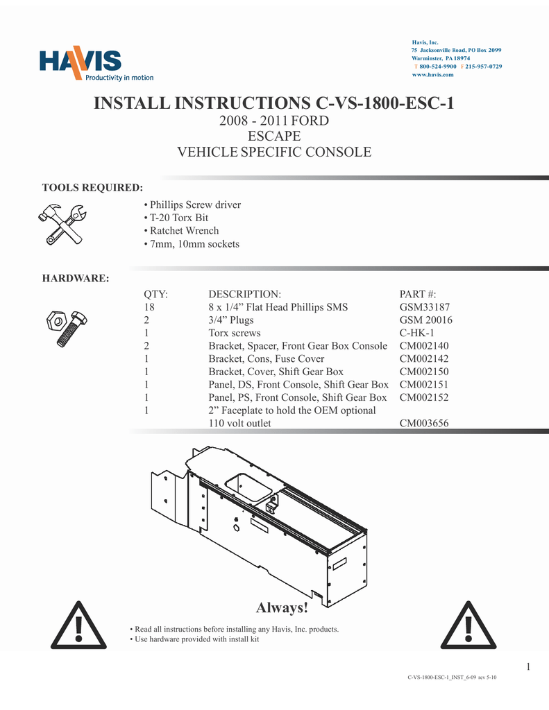 medium resolution of install instructions c vs 1800 esc 1
