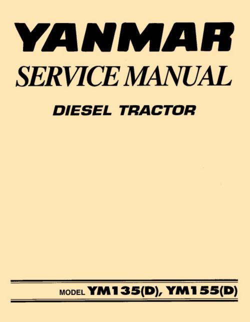 small resolution of yanmar 135 155 d service manual
