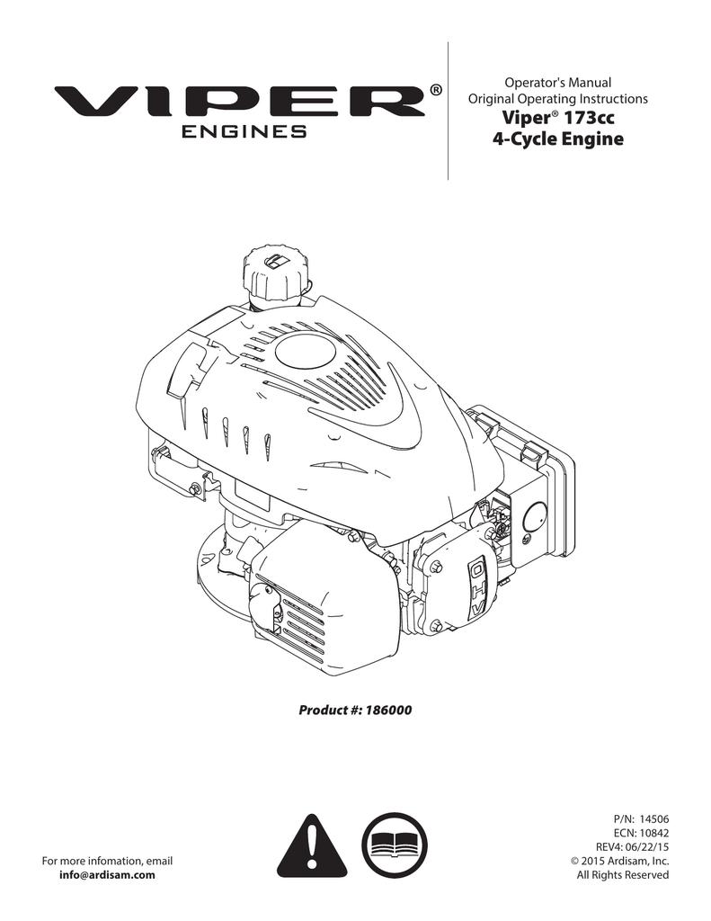 medium resolution of viper 173cc 4 cycle engine
