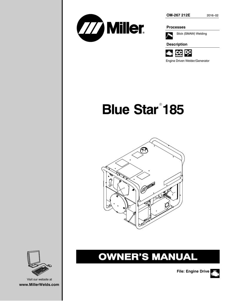 hight resolution of blue star 185 miller welding