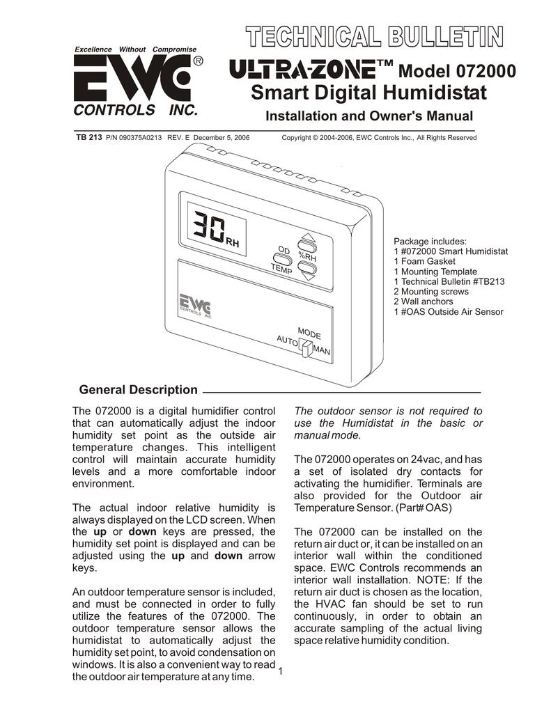hight resolution of smart digital humidistat