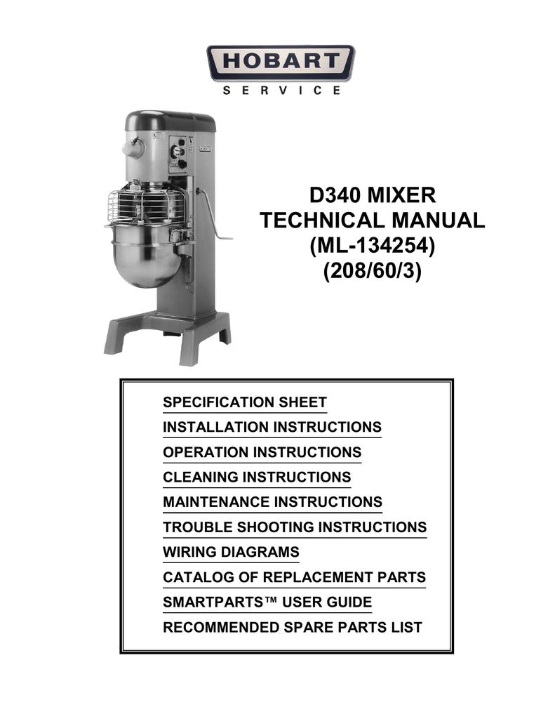 hight resolution of d340 mixer technical manual