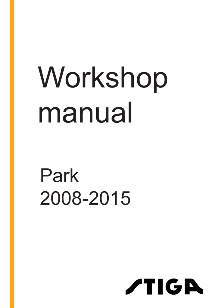 Stiga park prestige 4wd workshop manual