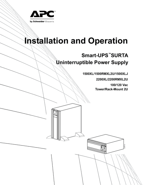 small resolution of smart ups surta 1500xl 2200xl 100 120v twr rm2u