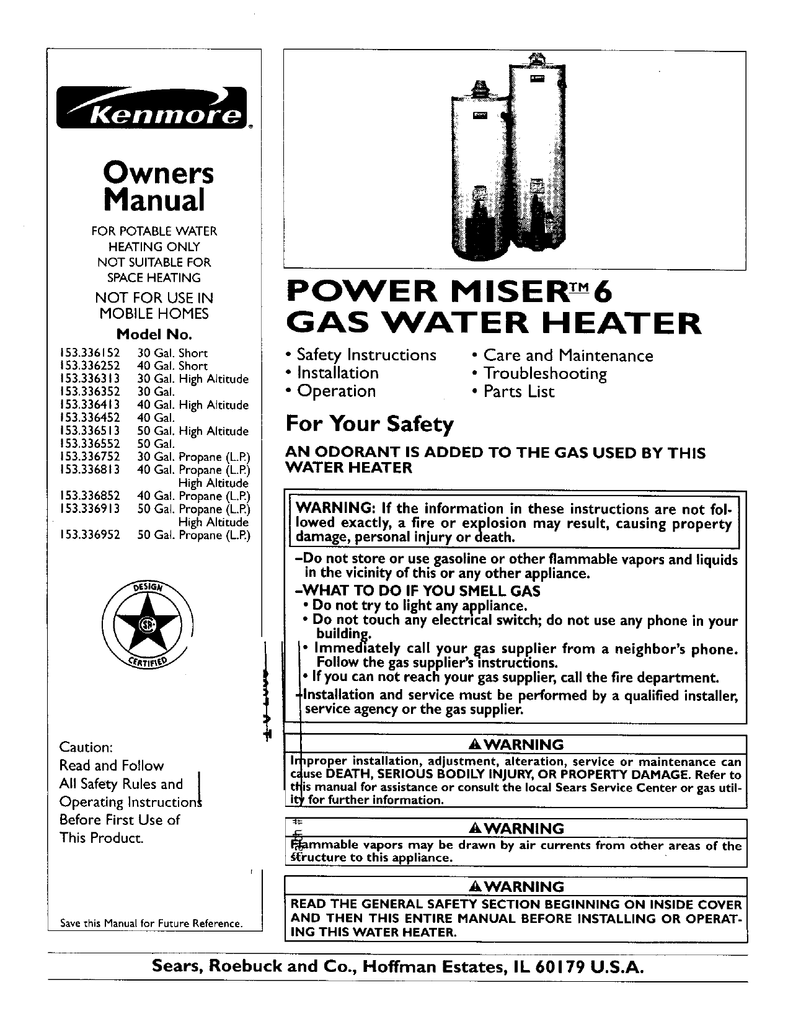 Kenmore Power Miser 12 Life Expectancy : Kenmore 153 33525