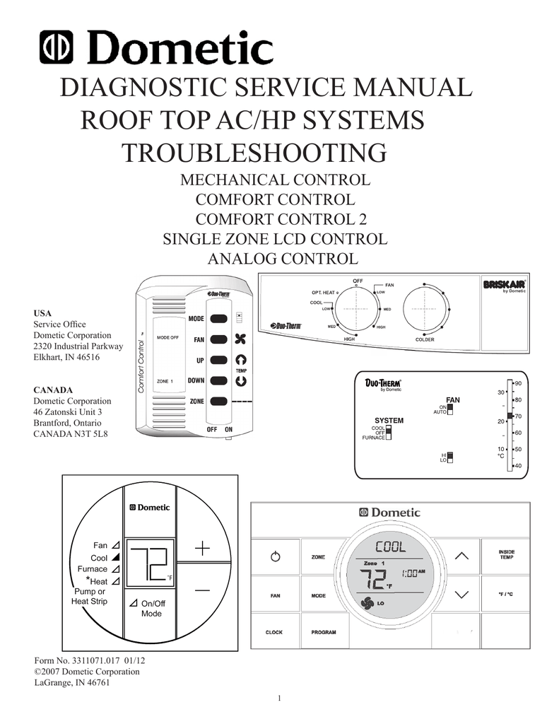 medium resolution of diagnostic service manual roof top ac hp systems troubleshooting