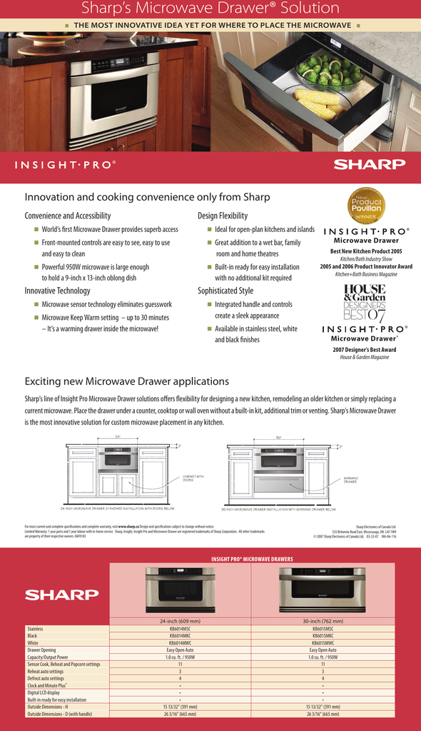 sharp s microwave drawer solution