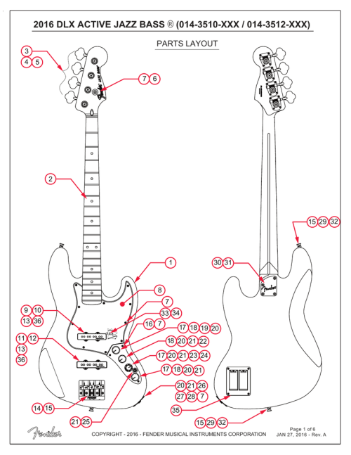 small resolution of fender deluxe active jazz bass service manual
