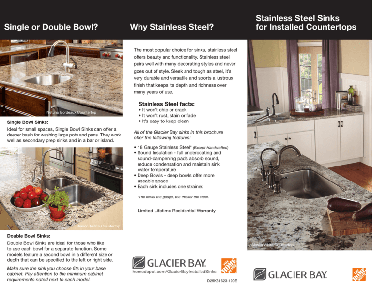 stainless steel sinks for installed
