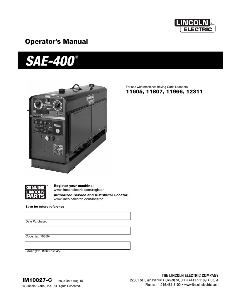 medium resolution of sae 400 lincoln electric