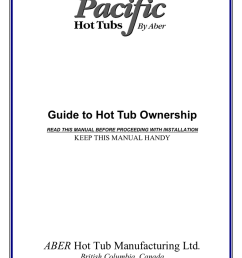 2003 pacific spas owners manual [ 791 x 1024 Pixel ]