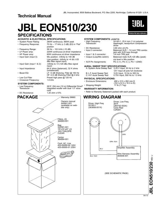 small resolution of jbl eon510 230 jbl pro service