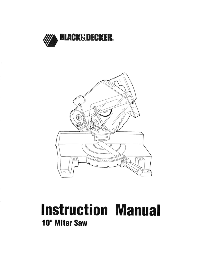 Page 1 (W) BACKSDECKER Instruction Manual 10