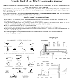 remote control car starter installation manual [ 791 x 1024 Pixel ]