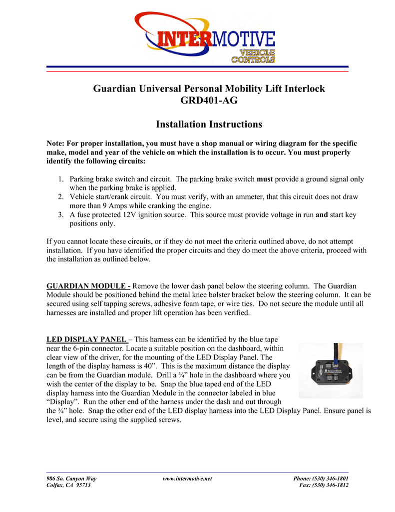 medium resolution of guardian universal personal mobility lift interlock
