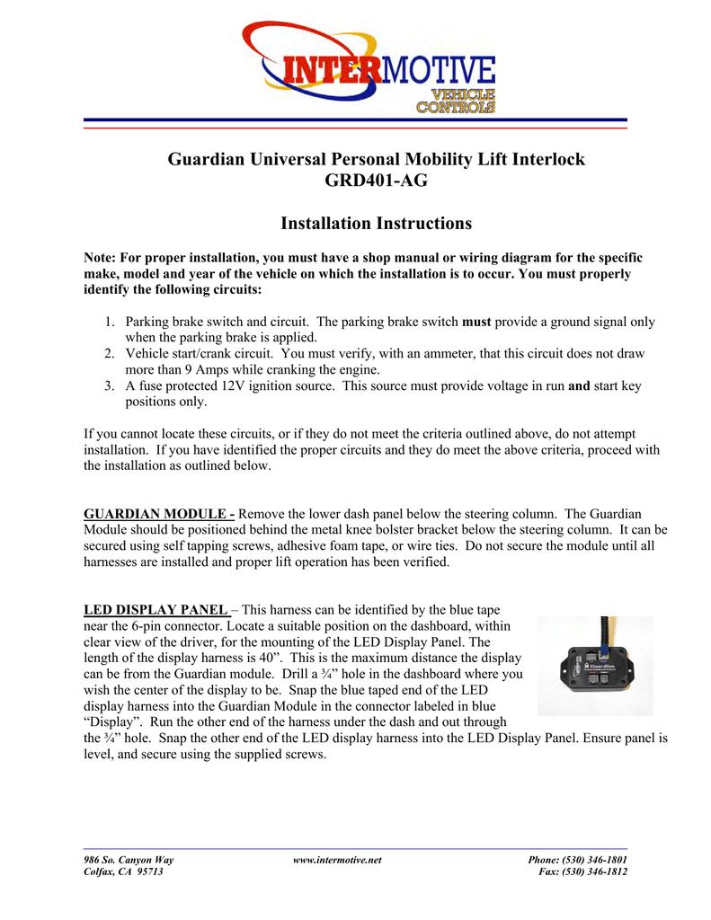 hight resolution of guardian universal personal mobility lift interlock