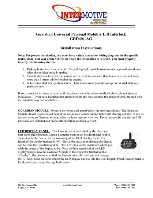 small resolution of guardian universal personal mobility lift interlock
