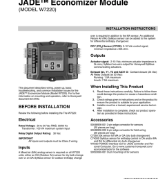 honeywell jade economizer wiring diagram [ 791 x 1024 Pixel ]