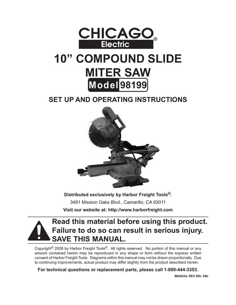 10 Compound Slide Miter Saw Manualzz Com