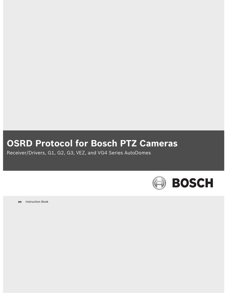 hight resolution of osrd protocol for bosch ptz cameras manualzz com pelco ptz controller wiring autodome ptz camera wiring diagram