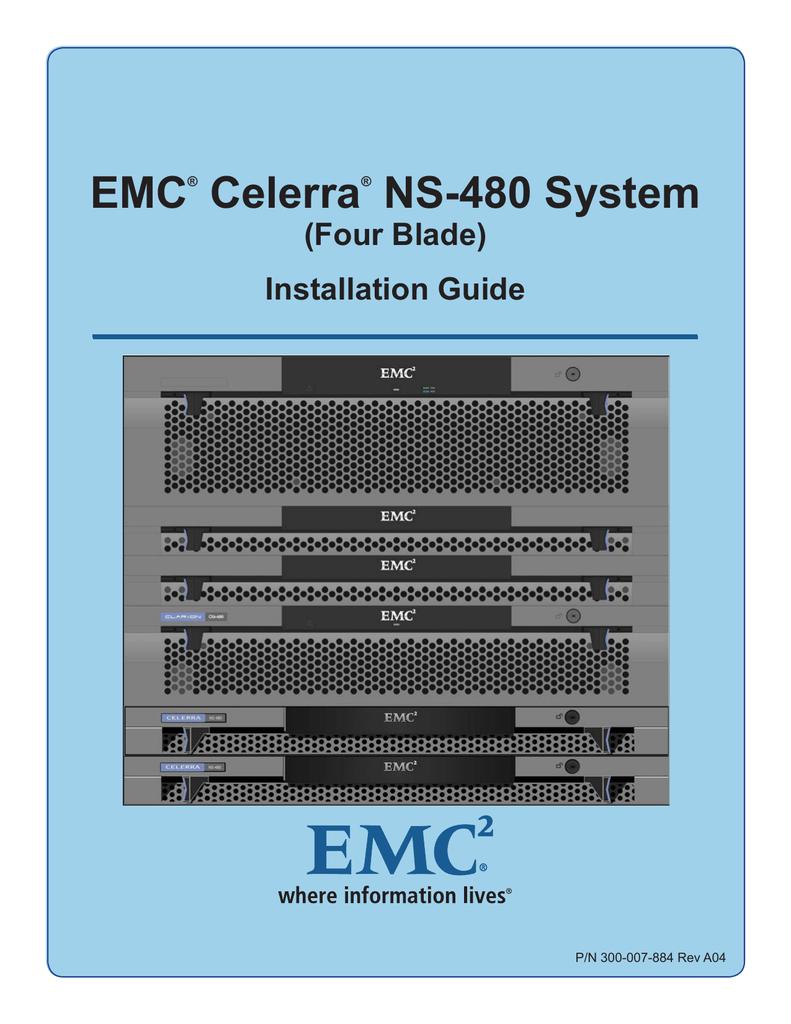 medium resolution of emc celerra ns 480 system four blade installation guide