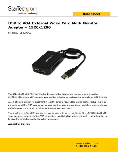 small resolution of usb to vga external video card multi monitor adapter 1920x1200