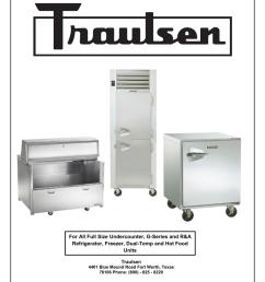 traulsen service manual [ 791 x 1024 Pixel ]