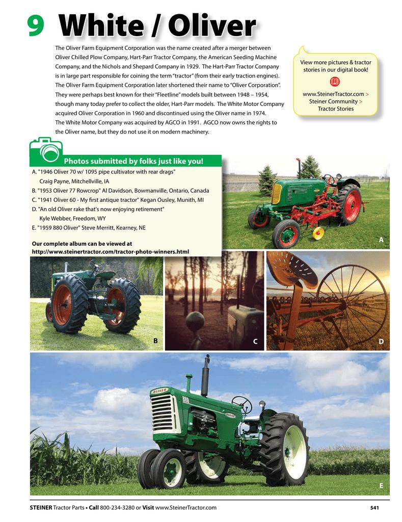 hight resolution of white oliver 9 steiner tractor parts