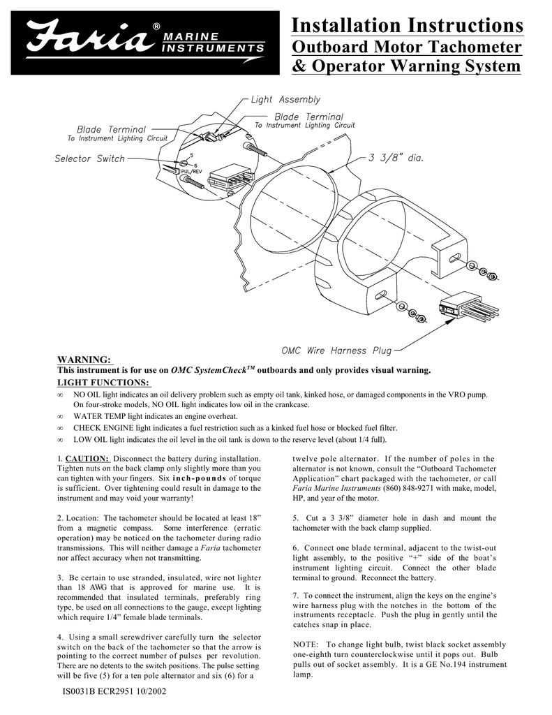 hight resolution of installation instructions installation instructions installation instructions outboard motor tachometer