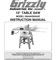 10 table saw instruction manual [ 791 x 1024 Pixel ]