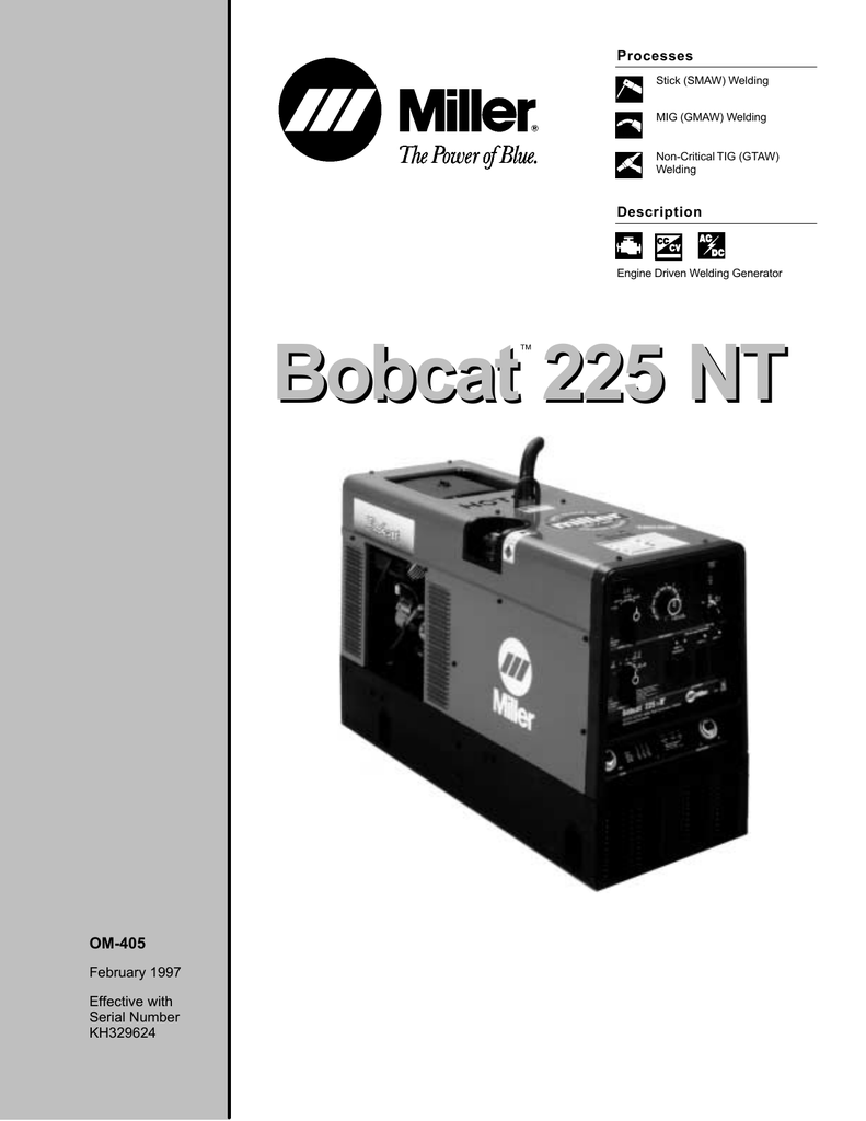 hight resolution of bobcat 225 nt miller welding