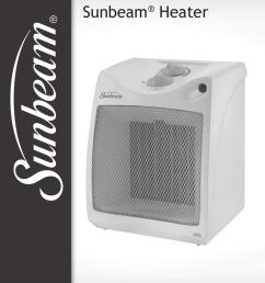 sunbeam ceramic heater manual best in 2018 [ 769 x 1024 Pixel ]