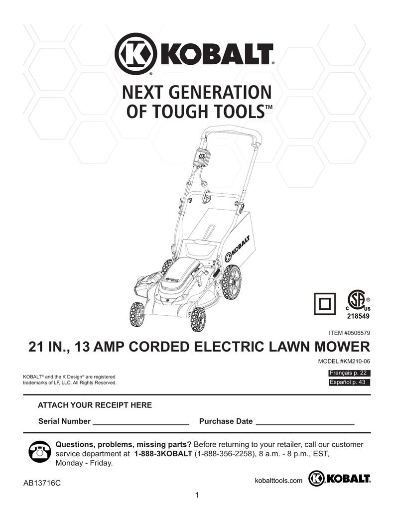 Amp Corded Electric Lawn Mower